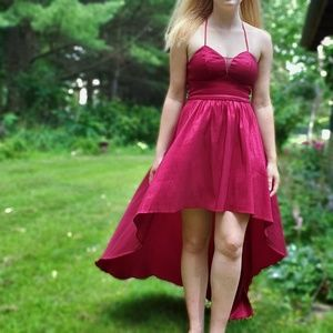 ☆ Red high-low homecoming/prom dress ☆